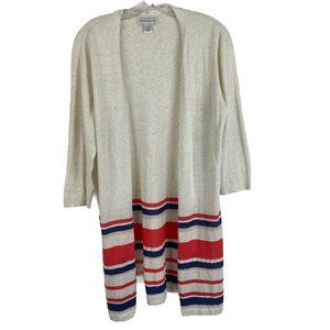 Christopher& Banks Open Front Striped Cardigan